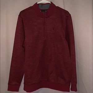 Under Armour Coldgear Maroon 3/4 zip sweater